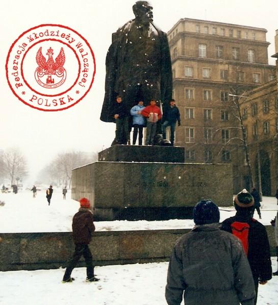 """16 - Od lewej Grzesiek, Wiesiek, Marek, """"Andrzej"""""""