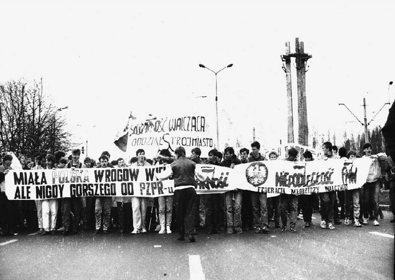 Manifestacja FMW w Gdańsku 1989 r.