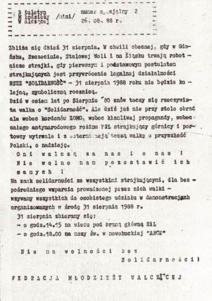 BMW MINI nr specjalny 2 z dn. 26.08.1988