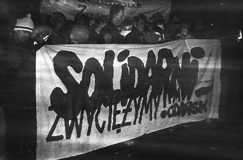 Wiec w rocznicę Grudnia - Gdańsk (16.XII.87)