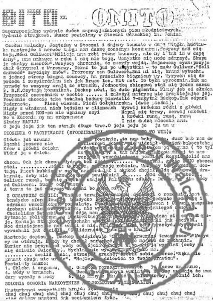 19 - BITO-MONITO (wydany na Stoczni Gdańskiej w czasie strajków z maja 1988 r. współnie z kolegami z redakcji BIT-u
