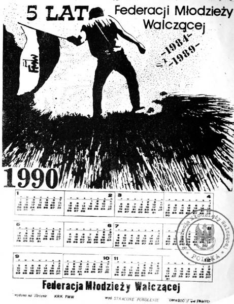 Kalendarz FMW Kraków 1990