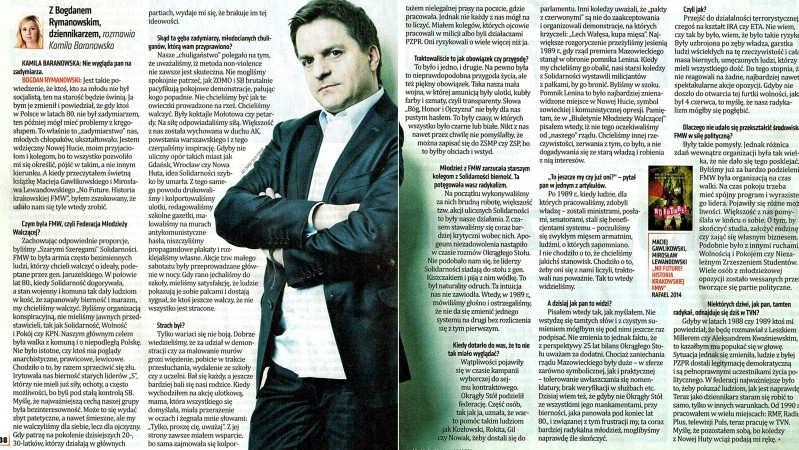 """""""Do Rzeczy"""" listopad 2014 Wywiad Rymanowski"""
