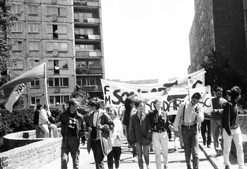 1988 Gdańsk Zaspa ROCZNICA MSZY PAPIESKIEJ