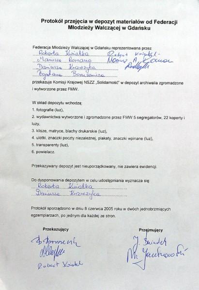 10 - Dokument przekazania zbiorów