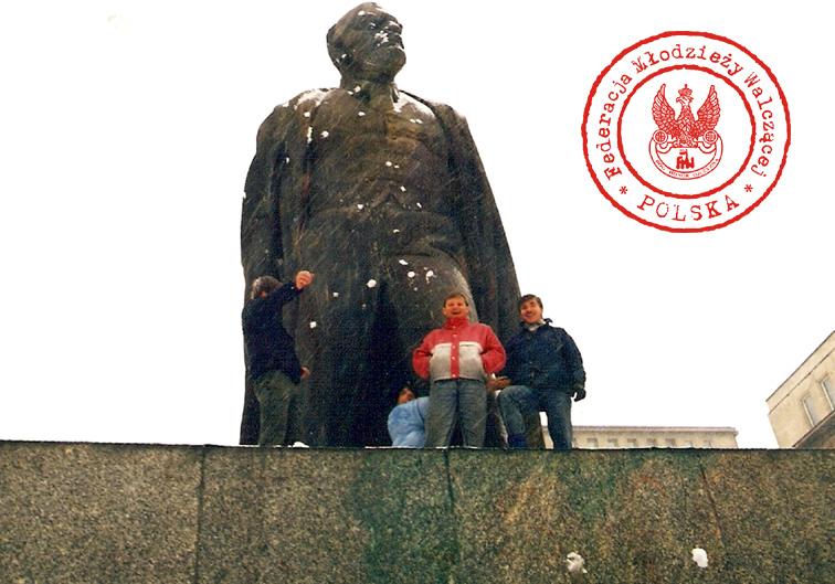"""17 - Od lewej Grzesiek, Wiesiek, Marek, """"Andrzej"""""""