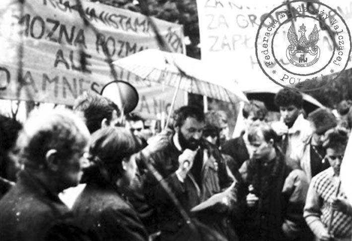 9 - Manifestacja FMW i KPN Kielce kwiecień 1989