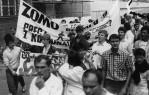 Manifestacja w rocznicę sierpnia w 1988r.