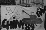 5 - Pikieta pod konsulatem Chin w Gdańsku 1989 r.