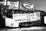 Manifestacja przeciwko EA w Żarnowcu